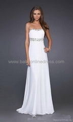 Fascinating Chiffon A-line Floor-length Prom Evening Dresses