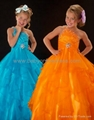 Charming A-line One-Shoulder Ruffles Little Girl's Pageant Dresses 3