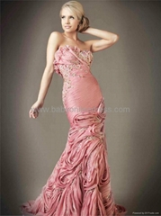 Sexy Beading Chiffon Ruffles Beading Sheath Evening Dresses