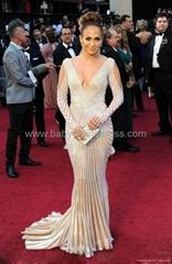 Mermaid Deep V-Neck Long-Sleeve Mother Celebrity Dresses