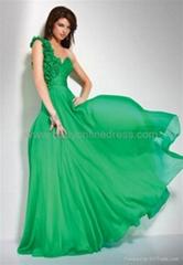 Sexy Sweetheart Floor Length Chiffon Sheath Evening Dresses