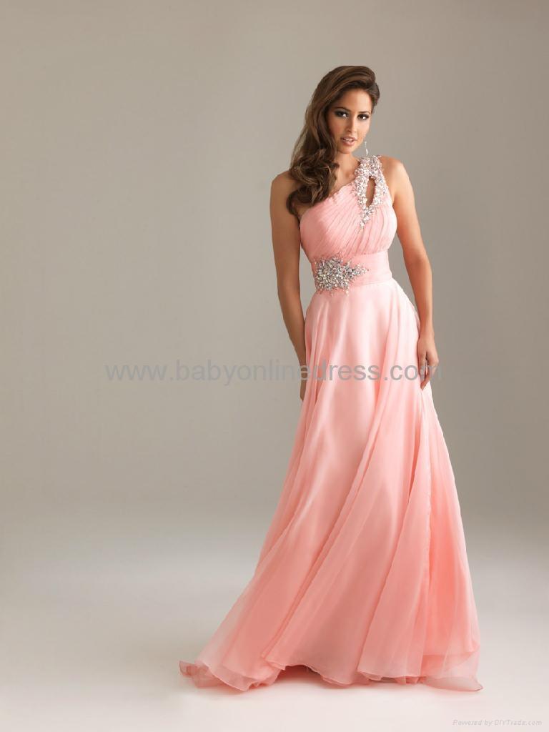 9c8f982d2c6 Sexy One Shoulder Summer Sweetheart Chiffon Prom Dress - NM6490 ...