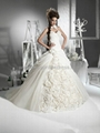 Gorgeous Ball Gown Sweetheart Floor-Length Flowers Chapel Wedding Dresses  1