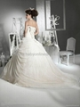 Gorgeous Ball Gown Sweetheart Floor-Length Flowers Chapel Wedding Dresses  2