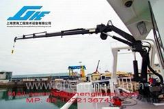 25T/14M Hydraulic Telescopic Boom Marine Crane