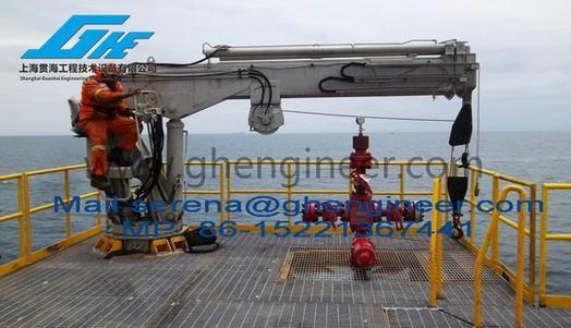 Telescopic Crane Marine : T m hydraulic telescopic boom marine crane ghe s