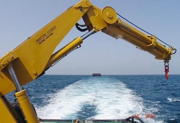 Tractor Hydraulic Boom Crane : T hydraulic knuckle boom marine crane ghe s