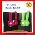 Green/pink solo headphones from hd headphone  by dr dre with cheap price