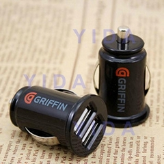Griffin 2.1A Mini Bullet Dual USB Ports Car Charger for Apple iPad iPhon