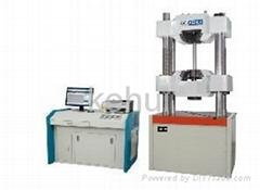 Microcomputer controlled electro-hydraulic universal testing machine