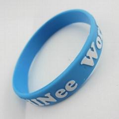 Wholesale Embossed Logo Silicone Wristband
