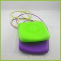 New arrival colorful silicone purse with strap for lady