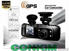 Original GS8000 HD1080P GPS Car Camcorder H.264 Ambarella