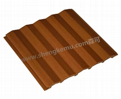 150 triangle pvc panel wood flooring composite decking