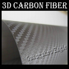 Silver 3D Carbon Fiber V