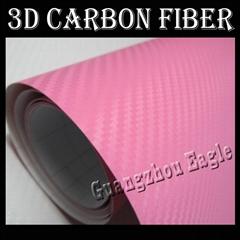 Pink 3D Carbon Fiber Vin