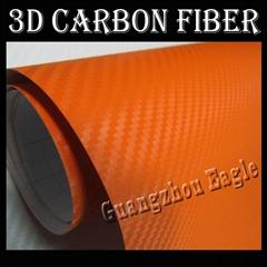 Orange 3D Carbon Fiber V