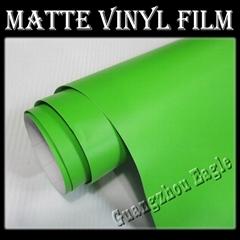 1.52x30m Apple Green Matte Vinyl Car Film Wrap