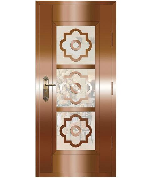 除此之外,现今一些欧式风格的铜门在