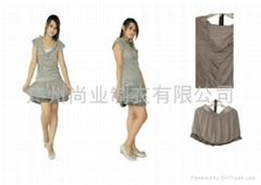 韩版百褶时尚针织小衫