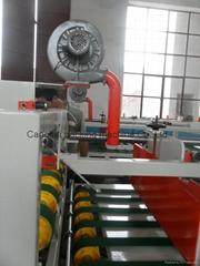 Semi-automatic cardboard glue machine