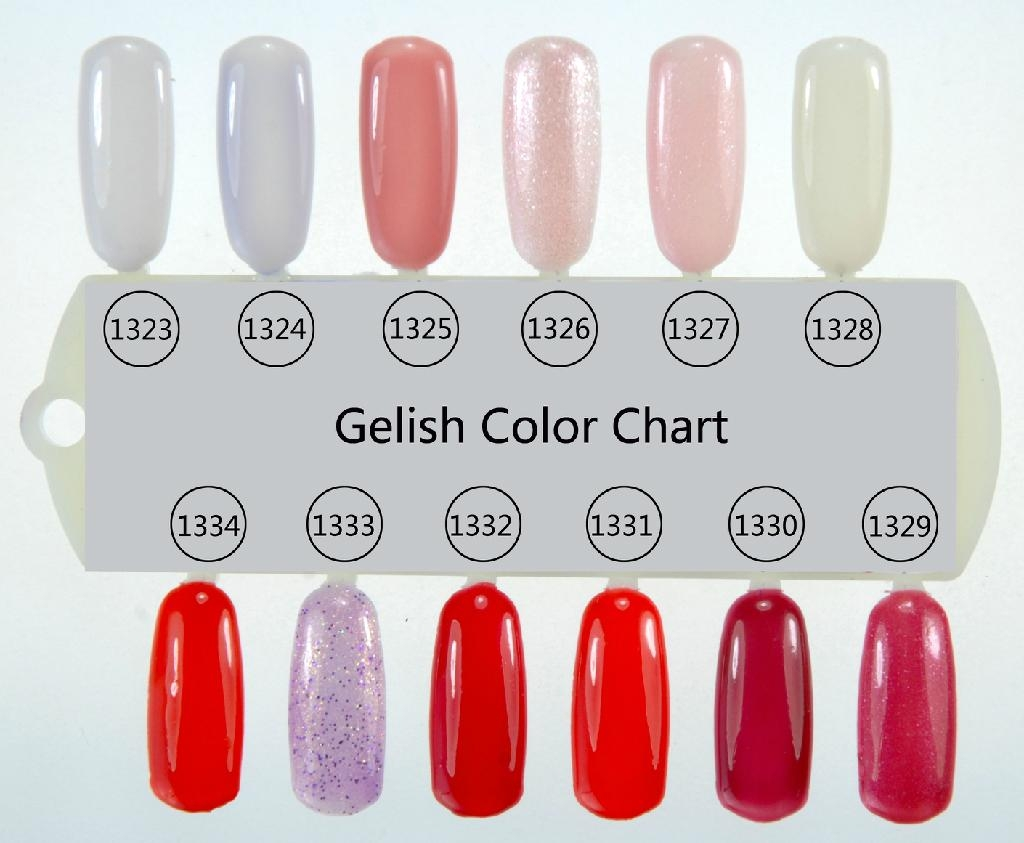 Gelish Soak Off Gel Polish Color Chart 1