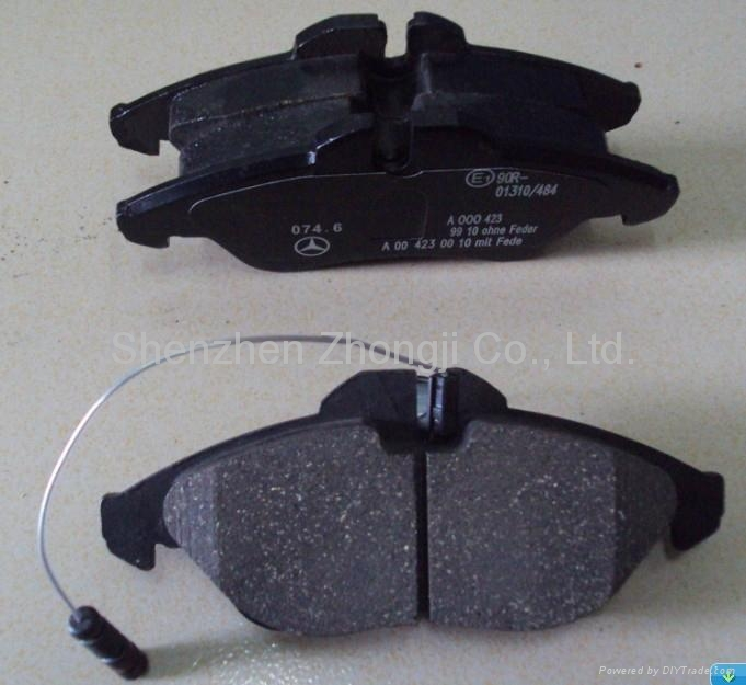 mercedes benz sprinter brake pad 0024203920 zhong ji
