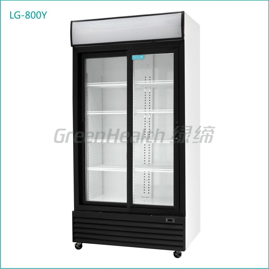Glass Door Display Refrigerator Showcase Lg 360 Green