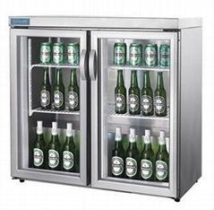 under counter beer display fridges