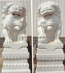 漢白玉石獅子