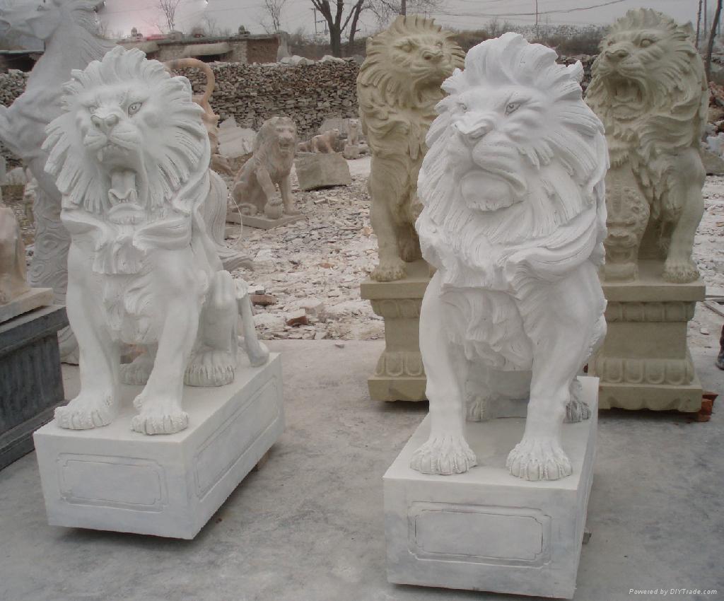 汉白玉石狮子 2