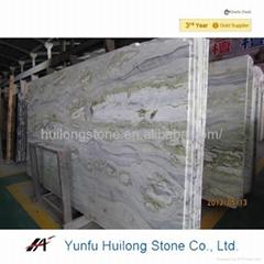 Natural green marble