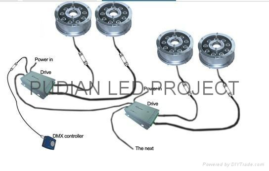 LED Underwater light  PD-UW001 3