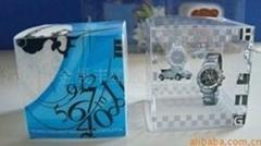 Decorative Transparent Plastic Watch Box