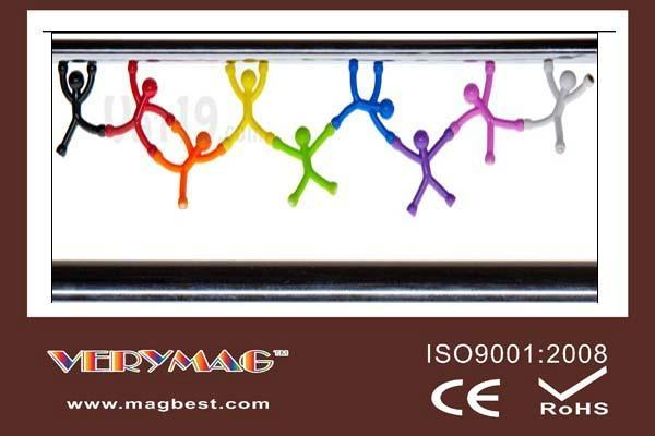 Q-Man Mini Flexible Magnets, Office Supplies Creative Bookmarks Memo Clip Book 1