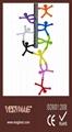 Q-Man Mini Flexible Magnets, Office Supplies Creative Bookmarks Memo Clip Book 2