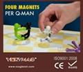 Q-Man Mini Flexible Magnets, Office Supplies Creative Bookmarks Memo Clip Book 3