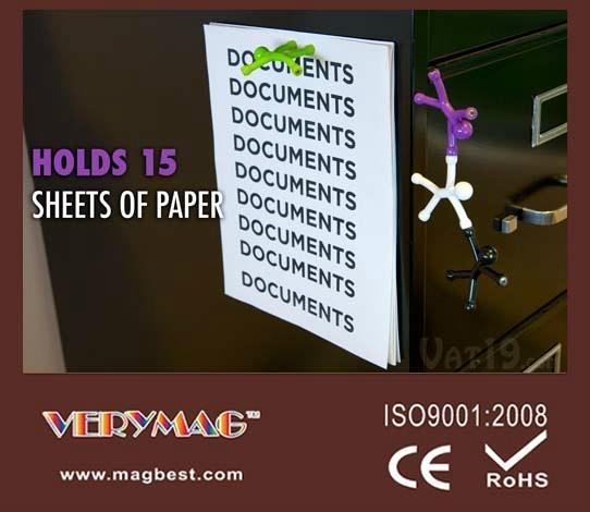 Q-Man Mini Flexible Magnets, Office Supplies Creative Bookmarks Memo Clip Book 4