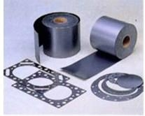 Reinforced graphite sheet with non-metallic fiber inserted 1