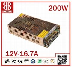 DC12V 200W LED POWER SUPPLY