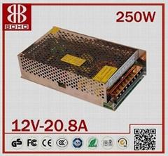 DC12V 250W LED POWER SUPPLY