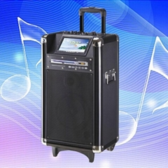 bluetooth wireless trolley battery speaker with DVD player