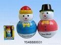Christmas snowman funny roly-poly for