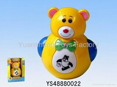 Novelty gentle bear musical roly-poly