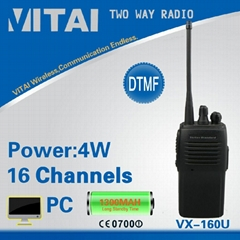 VX-160U 16Channels UHF Portable Walkie Talkie