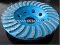 4 inch Segmented turbo diamond grinding cup wheel