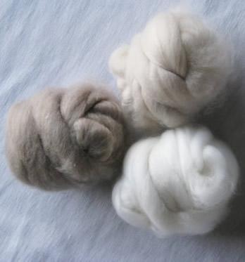 dehaired cashmere fibre(100% light grey) 1