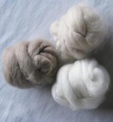 dehaired cashmere fibre(100% light grey)