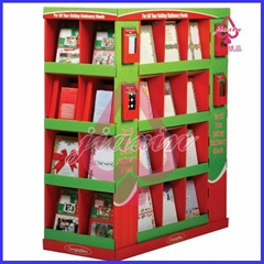 compartment cardboard display she  es for books promotion