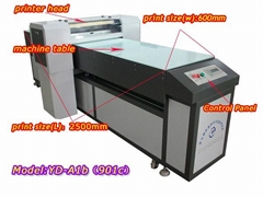 large printer size and high speed flatbed printer